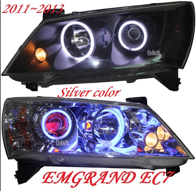 Geely Emgrand EC7 headlight,2011~2013,Fit for LHD,Free ship!Emgrand EC7 fog light,2ps/set+2pcs Aozoom Ballast;EC8,Emgrand EC7 geely emgrand ec8 headlight 2011 2015 fit for lhd free ship emgrand ec8 fog light 2ps set 2pcs aozoom ballast ec 8 emgrand ec7