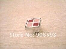 24pcs lot free shipping Wine red mosaic porcelain decorative drawer knobs