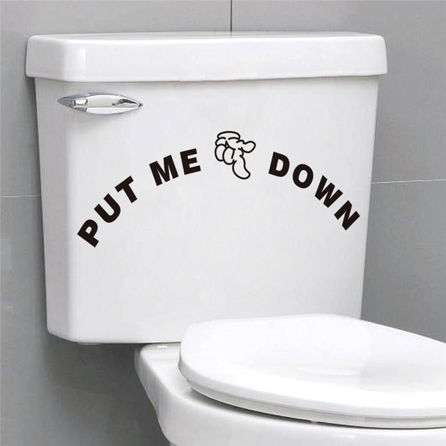 put me down letters vinyl wall art stickers for toilet bowl