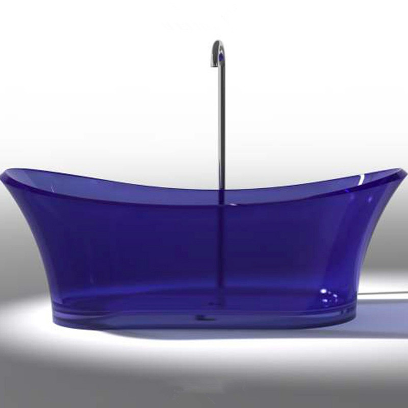 1750x750x680mm New Design Resin Acrylic Bathtub Colored Freestanding artificial stone Rectangular Bathroom Tub RS6520-1