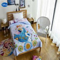 דיסני קפוא אלזה ואנה מכסה כותנה מצעי שמיכת שמיכות קיץ בנות ילד עיצוב חדר השינה של ילד 150*200 ס