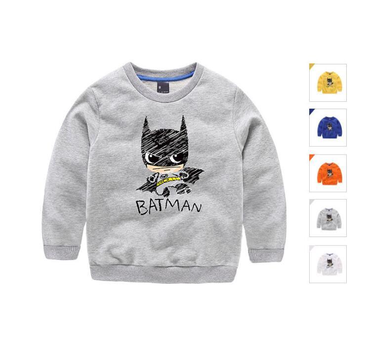Kids Boys 3D T Shirt With Cartoon batman Children Boy Tshirt Winter T-Shirt For Girl Size 2-7Years