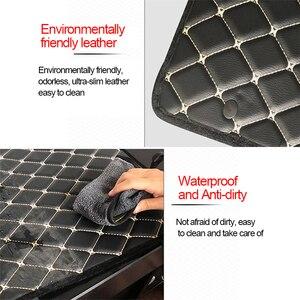 Image 5 - Araba kol dayama minderi PU deri araba kol dayama evrensel merkezi konsol oto koltuk kol dayama kutusu depolama siyah Mat koruma