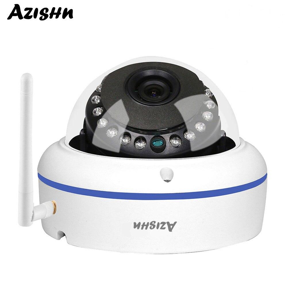 AZISHN Onvif 1080 P 960 P 720 P WIFI caméra dôme sans fil grand Angle 2.8mm lentille en métal étanche extérieur anti-vandalisme CCTV Cam CamHi