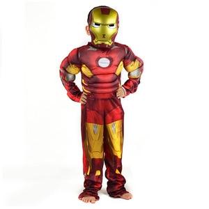 Image 5 - Пурим Хэллоуин костюм Человек паук Бэтмен Супермен костюм для мальчика Детский карнавальный костюм супергерой Мстители косплей одежда