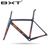 Factory Sale Carbon Road Bike Frame BXT Di2 And Mechanical 500 530 550mm Super Light Frame