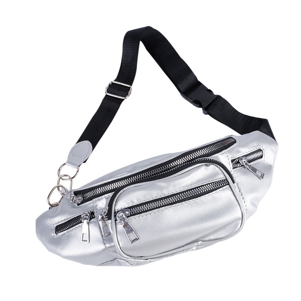 Women Fashion Solid Color Waist Bag 2019 New Multifunction  Leather Zipper Phone Bags Small Belt  Packs