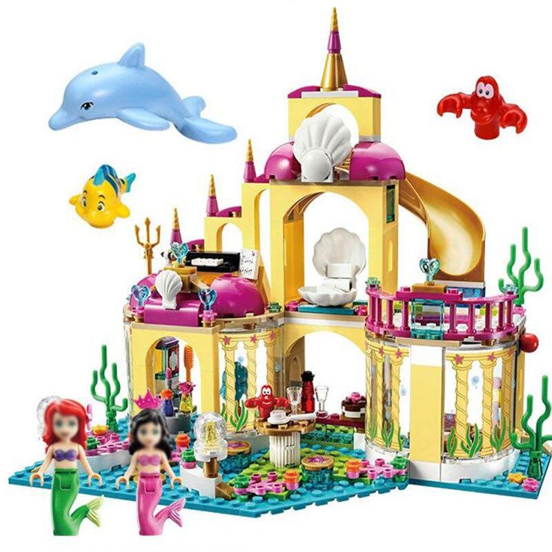 402pcs City Castle Princess Building Blocks Dream Elsa Ice Diy Compatible Gifts Girl Toy