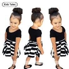 SQ194 girls clothing set children s dress girls T shirt dress 2 pcs set children suits
