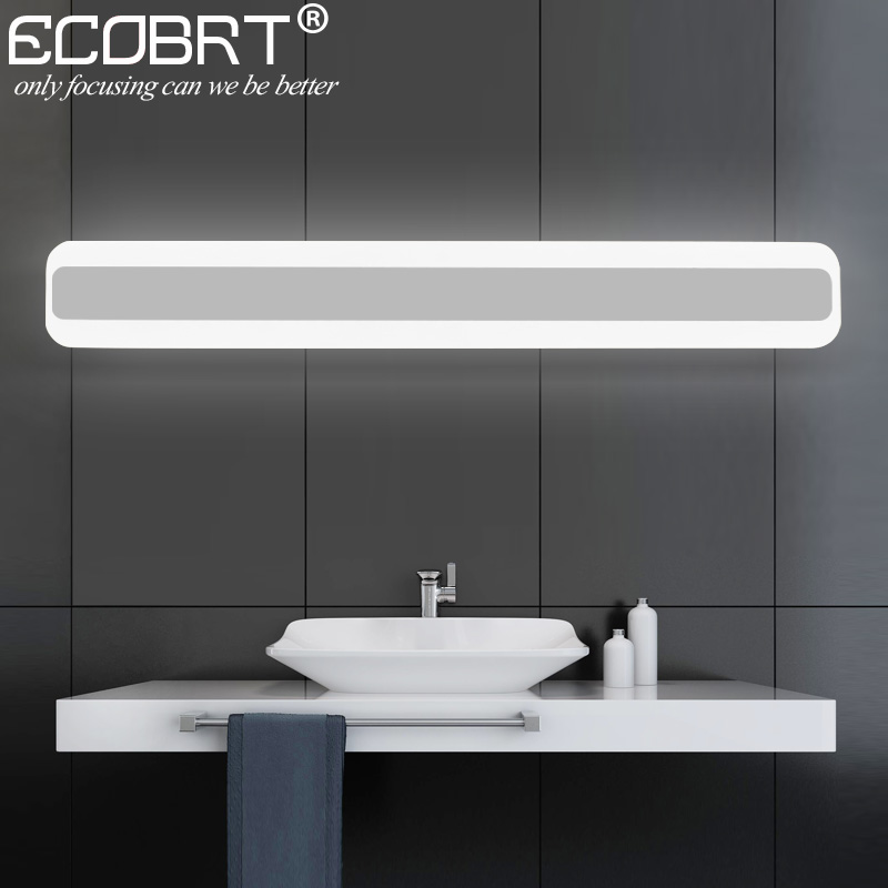 14w Led Bathroom Lights Modern Square Indoor Acrylic Led Mirror Lamps 40cm 50cm Long In