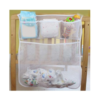 Mesh Baby Crib Nappy Organizer Cheap Organizer Baby Bed Newborn Bedding Kids Crib Storage Bag Bed Diaper Storage Organizer Baby