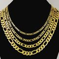 FUNIQUE 4/6/8MM Gold Alloy Snake Chain Necklace Mens Male Wholesale Punk Fashion Jewelry