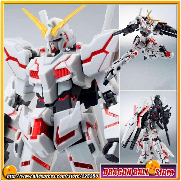 Japan Anime Gundam Unicorn Original Bandai Tamashii Nations Robot Spirits Action Figure No.159 - Unicorn Gundam Destroy Mode genuine bandai bb sd q version of the 392 neo zeong unicorn gundam 3 5 inch assembled with high quality