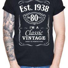 ff02e37ca 2019 Cool Tee Shirt Men's 80th Birthday T-Shirt 1938 Vintage Man Eightieth  80 years