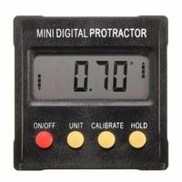 360 Degree Mini Digital Protractor Inclinometer Electronic Clinometer Angle Gauge Meter Level Box Magnetic Base Measuring