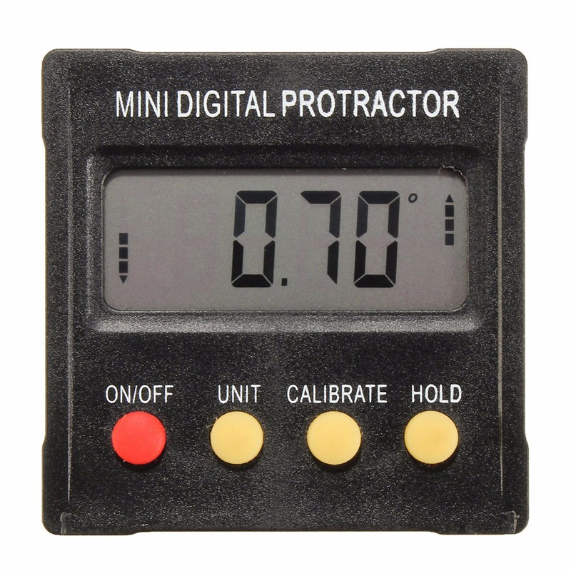360 Degree Mini Digital Protractor Inclinometer Electronic Clinometer Angle Gauge Meter Level Box Magnetic Base Measuring Tools  цены