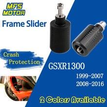 цена на For Suzuki GSXR1300 GSX-R GSXR 1300 GSX 1300R Hayabusa No Cut Frame Slider Crash Pads Falling Protector 1999-2016