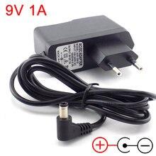 Adaptateur d'alimentation ca 100V-240V à cc 9V 1a, 1000ma, câble à l'intérieur, convertisseur de prise ue