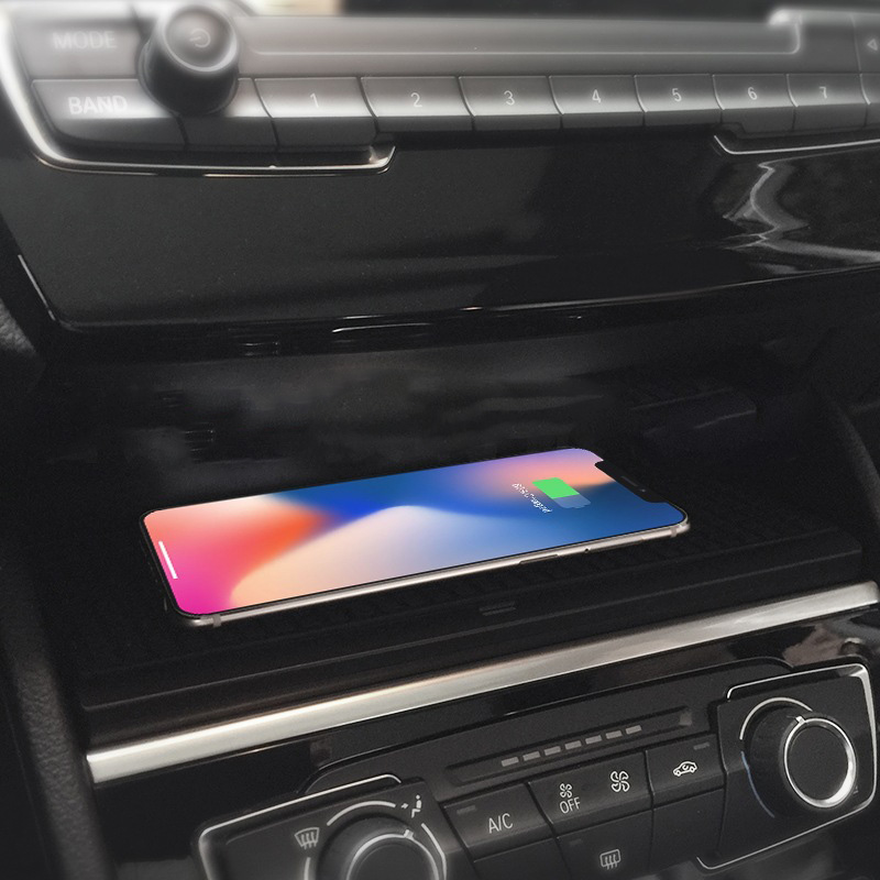 <font><b>For</b></font> <font><b>BMW</b></font> 2 Series 2016-2019 QI wireless charger phone charging plate fast charging <font><b>case</b></font> accessories <font><b>for</b></font> <font><b>iPhone</b></font> <font><b>8</b></font> X XS image