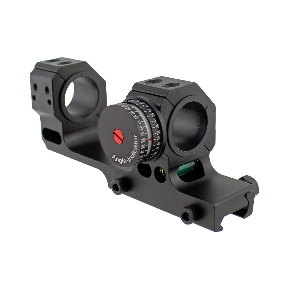 Tactical 24.5mm 30mm Dual Ring Scope Mount with High Accuracy Angel Indicator and Bubble Level for Picatinny Rail tactical 24 5mm 30mm dual ring scope mount with high accuracy angel indicator and bubble level for picatinny rail