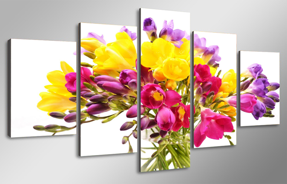 Unframed Wall Art Canvas Painting 2017 Hot Sale Summer Flowers ...