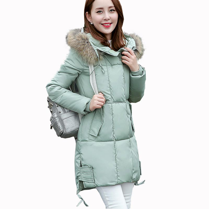 2016 new winter thick jacket warm women parkas long faux fur collar hooded slim cotton-padded coat long plus size jacket kp0678 2016 new hot winter thick warm woman coat cotton wadded jacket parkas slim luxury hooded fur collar long plus size 3xxxl cold