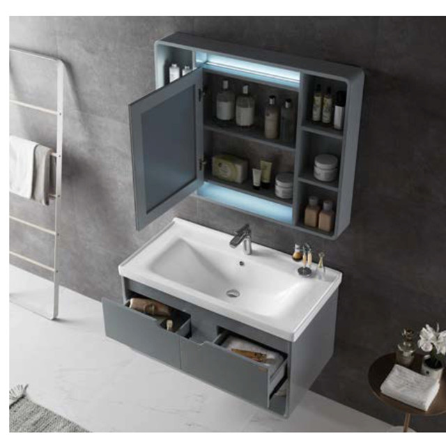 Furniture Solid Wood Bathroom Cabinet