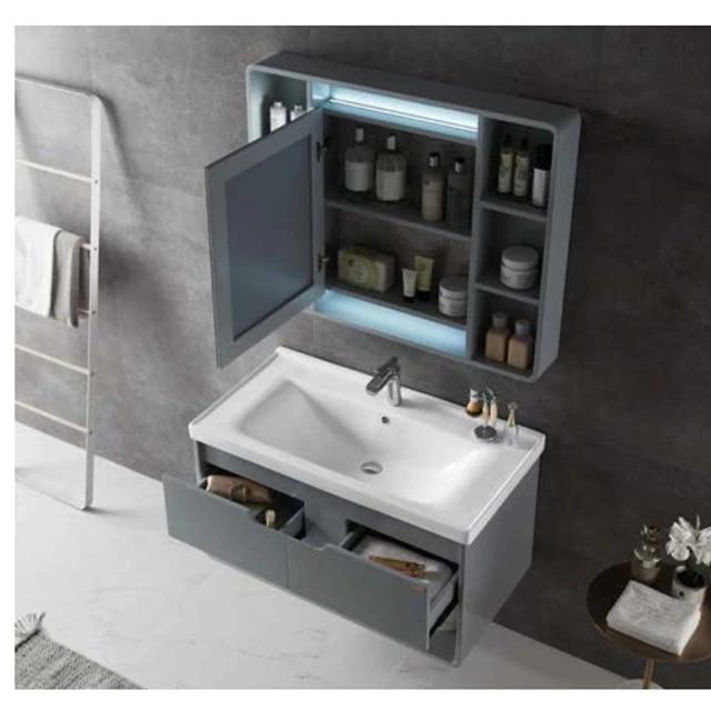 Bathroom Furniture Wood Furniture Solid Wood Bathroom Cabinet With Mirror And Basin Bathroom Cabinet Wooden Bathroom Cabinetsbathroom Wood Cabinets Aliexpress