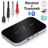Bluetooth B6 Trasmettitore Ricevitore Wireless Adattatore Audio per Le Cuffie Altoparlanti Tv 3.5 Millimetri Bluetooth 4.0 Music Receiver Sender