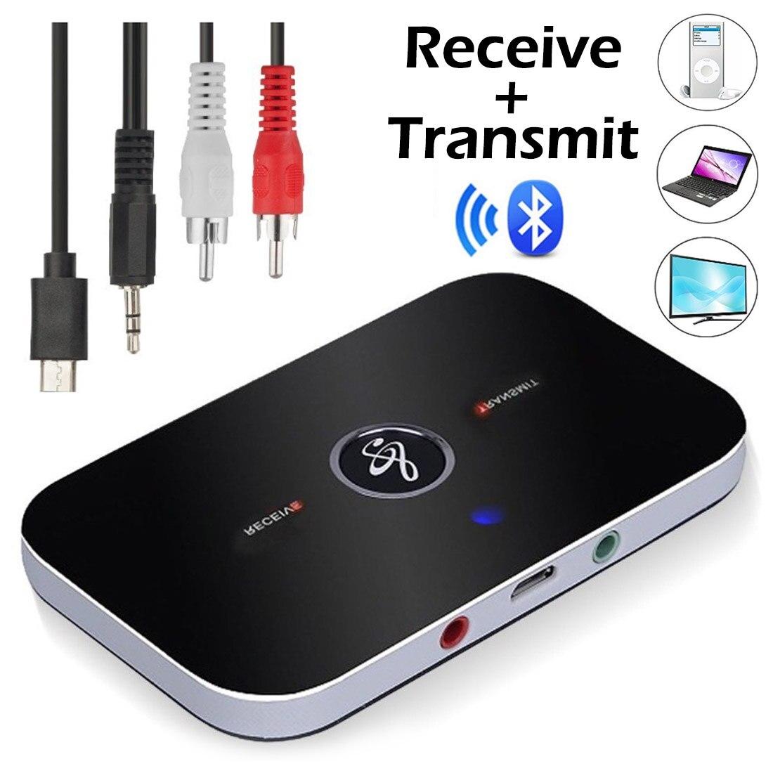 Bluetooth Transmissor Receptor B6 Alto-falantes TV 3.5 milímetros Adaptador de Áudio Para Fones De Ouvido Sem Fio Bluetooth 4.0 Música Receptor Remetente