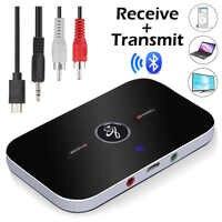 Bluetooth b6 transmissor receptor adaptador de áudio sem fio para fones de ouvido alto falantes tv 3.5mm bluetooth 4.0 música receptor remetente