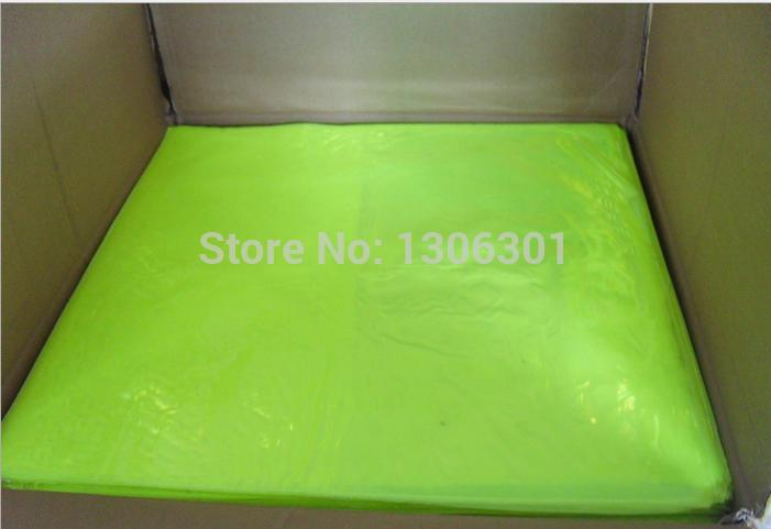 Fluorescent green no patten Reflective Warning PVC material reflective prismatic slice reflective PVC slice 46cm*48cm*20C