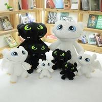 How To Train Dragon Toothless Black & White Plush Stuffed Toothless Toys For Children