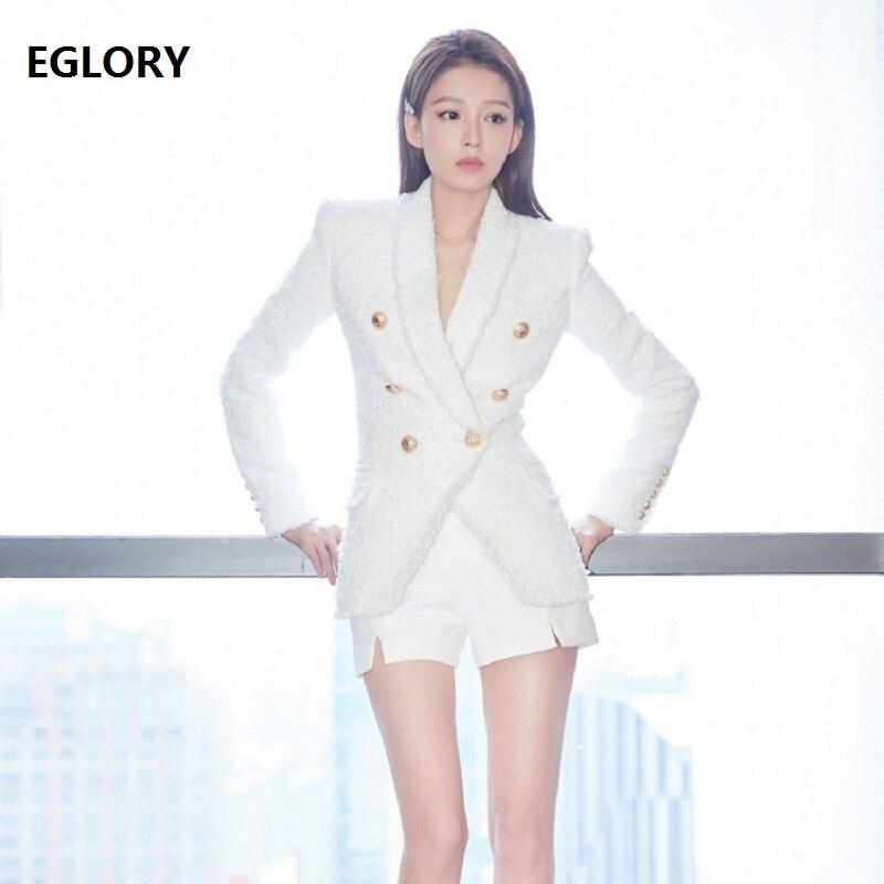 411094c1d7e8a Qualité 2018 Bouton Veste Unique Manteau Haute Laine Vêtements Hiver  Blazers Manches Nouvelle Longues À Lady Femmes En Automne ...