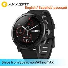 Huami Amazfit Stratos 2 Smartwatch Sport Smart Watch Bluetooth GPS Ceramic Verge Heart Monitor 11 Kind Sport Mode 50M Waterproof