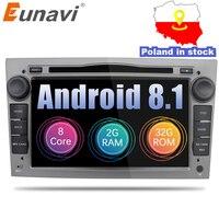 Eunavi 2 Din Octa Core 7'' Android 8.1 Car DVD Radio Player For Opel Astra Vectra Antara Zafira Corsa GPS Navi Wifi Bluetooth