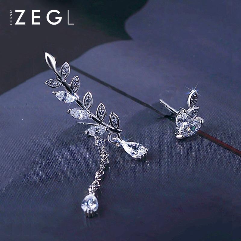 ZEGL Pure Silver Earringsfemale To Send Girlfriends
