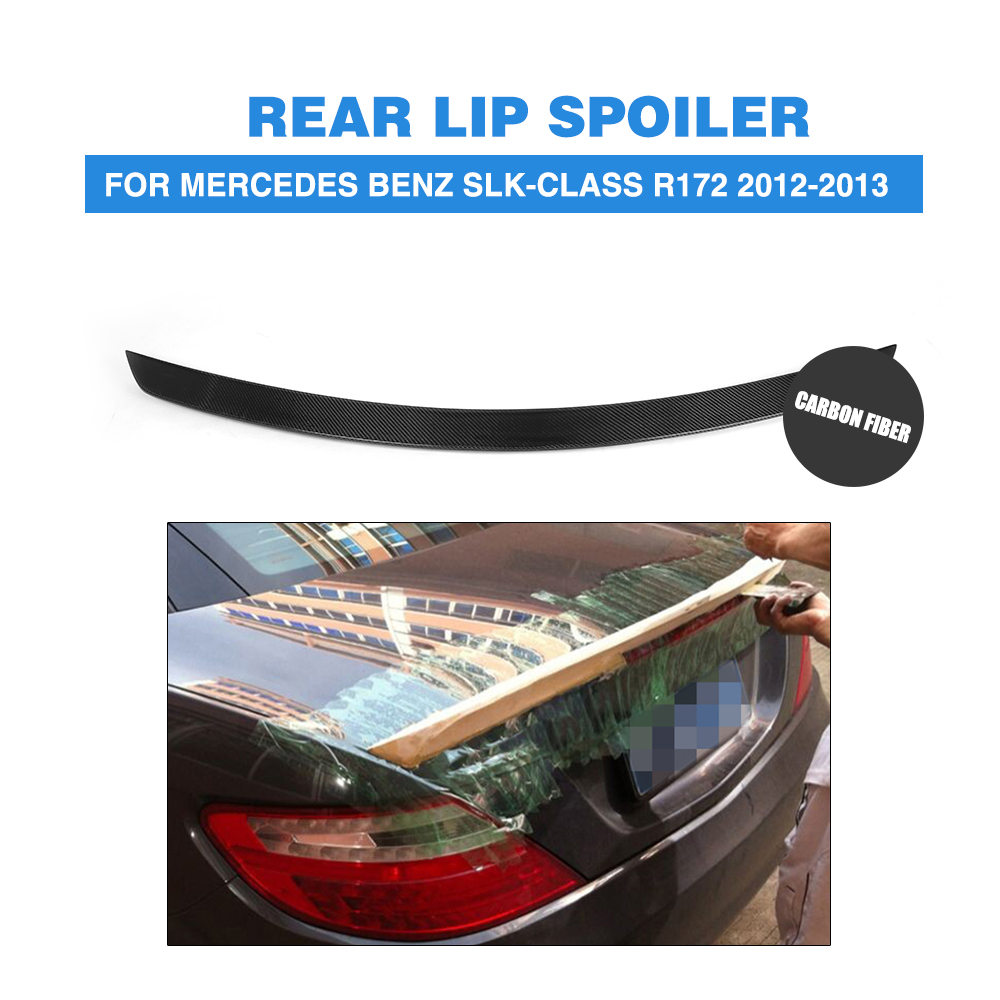 Carbon Fiber Trunk Spoiler Boot Wing Fit For Mercedes Benz R172 SLK Class 12-13 2007 bmw x5 spoiler
