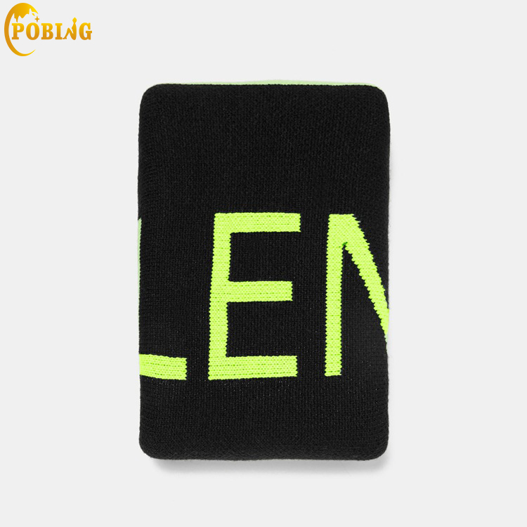 POBING 2018 Winter Cashmere Scarf Women Za Green Letters Scarves Knit Shawl Wraps Unisex Basic Pashmina Lady Cape Long Stoles
