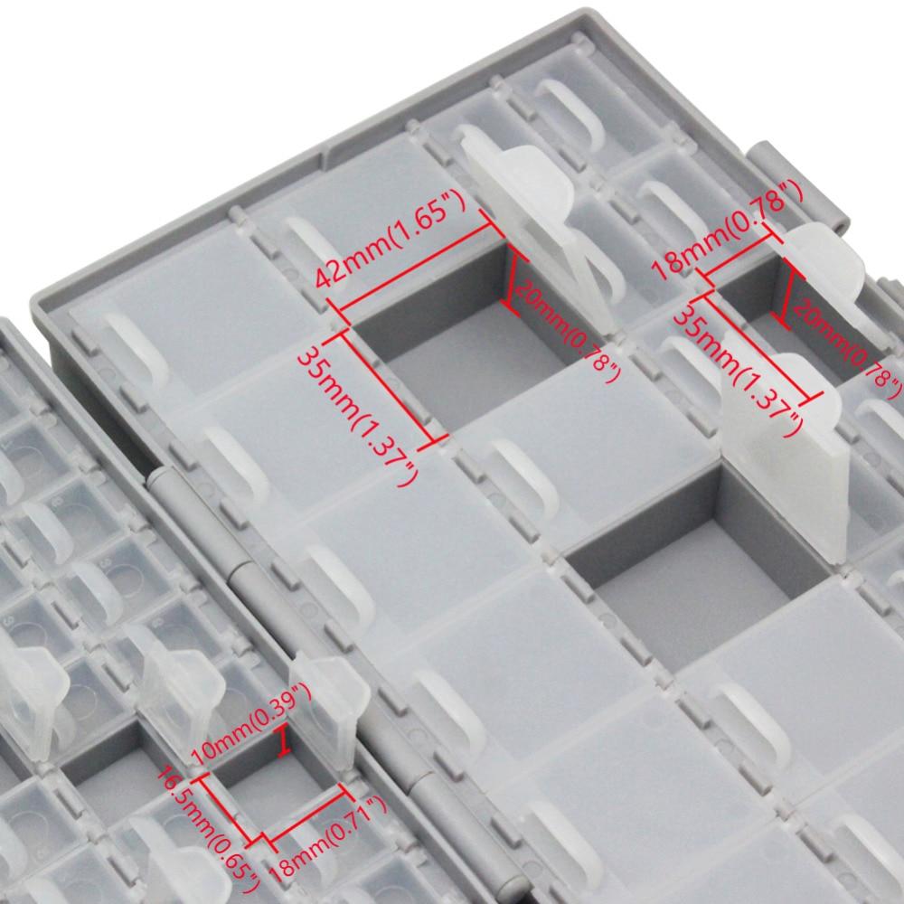 2pcs SMD Components resistor capacitor enclosure storage beads Organizer