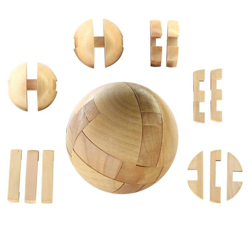 Neue Holz Intelligenz Spielzeug Chinesischen Gehirn Teaser Spiel 3d Iq Puzzle Für Kinder Erwachsene I0029 Attraktive Mode