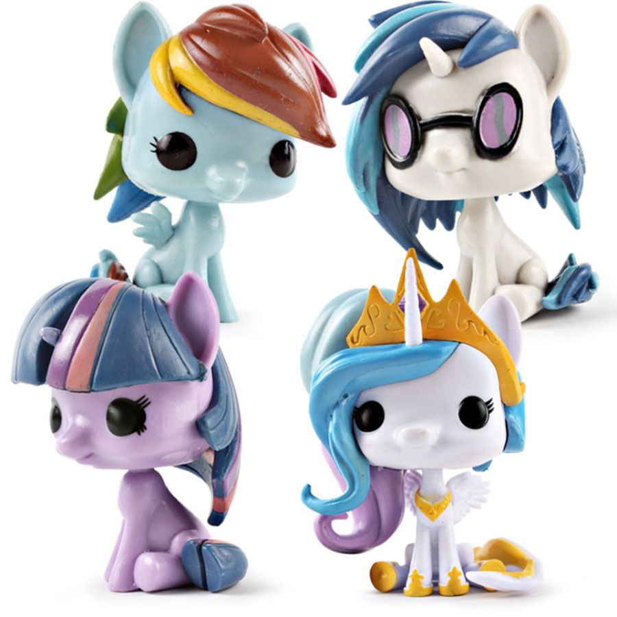 Anime Popular pony Model Toys Cute Little <font><b>Horse</b></font> unicorn PVC Action <font><b>Figure</b></font> Collectible Model Doll Toy For Children Gift hot sale image