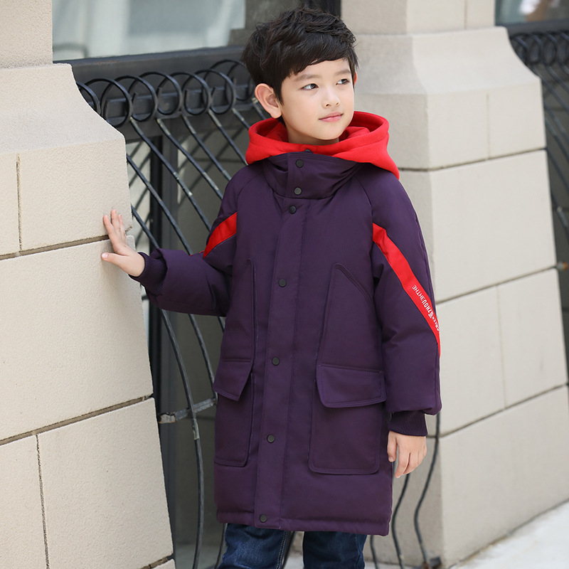 Children Winter Jackets For Boys Clothes 2018 Fashion Hooded Thick Warm Long Down Coat Teenage Parka Kids Outerwear Overcoats children winter jackets for boys clothes 2018 fashion hooded thick warm long down coat teenage parka kids outerwear overcoats