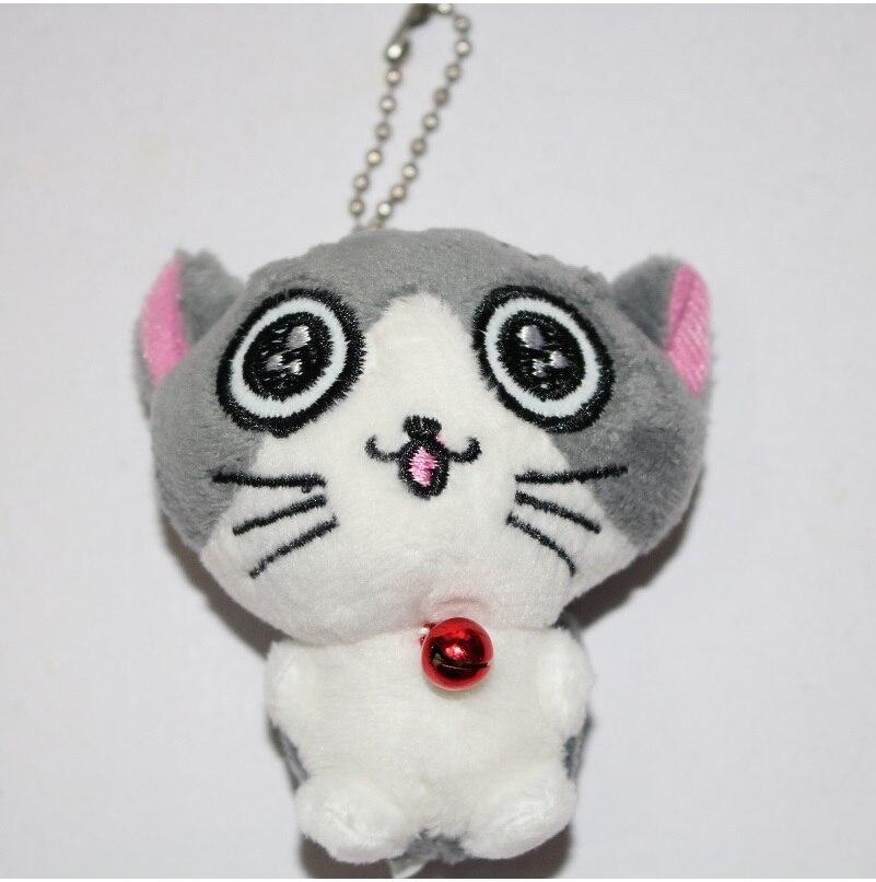 Kawaii серый сидя 9 см кошка плюшевые мягкие игрушки, букет подарок мягкая плюшевая кошка кукла, брелок с котом плюшевая игрушка цветок кошка кукла подарок - Цвет: E 5cm
