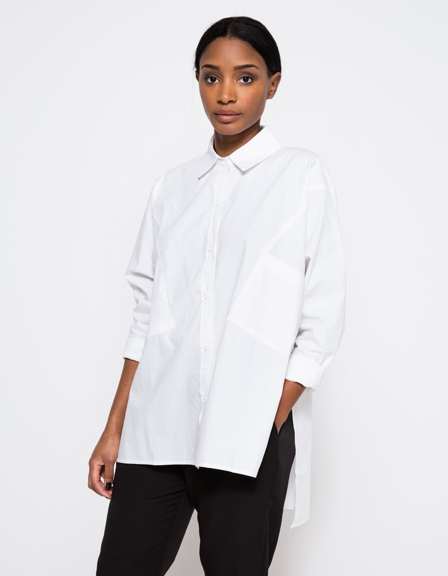 Primavera Verano Blusa Soild Blanco Elegante Oficina Mujeres Ropa de Marca Mujer