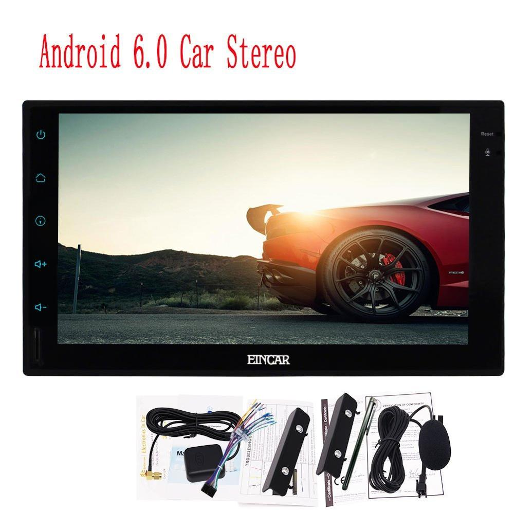 Android 6.0 Car Audio Wifi 7 in Dash 2Din GPS Navigation Player Stereo Full Touch Screen FM/AM RDS Radio for+Rear camera input