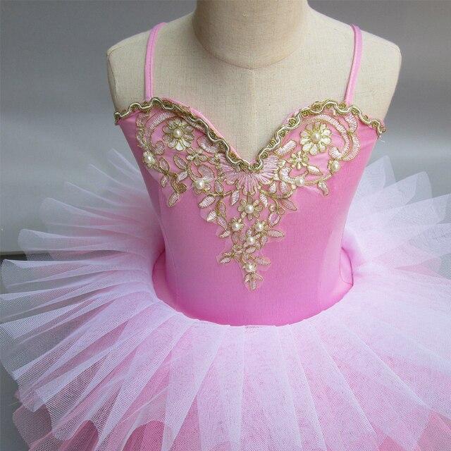 215e7a343 Children Ballerine Costume Pink Professional Ballet Tutu Fluffy ...