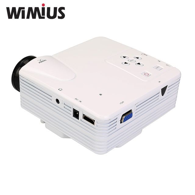 Wimius H80 de Vídeo MIni Proyector Portátil LED Full HD Apoyo 1900X1080 Proyector 80 Lúmenes De Cine En Casa de Vídeo Juegos TV película
