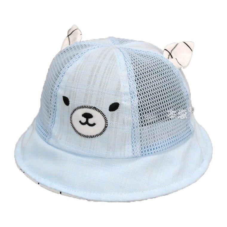 Retail Unisex Mesh Dome Bucket Hats Kid Child Samll Bear design Fisherman Ear Caps Summer Sun Protective Hat MZ4679