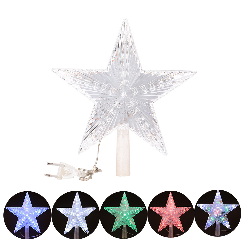 Five Pointed Star LED Cute Lamp Bedroom Home Christmas Decoration Baby 22CM EU plug living color cute five pointed star embellished bead chain bracelet for women